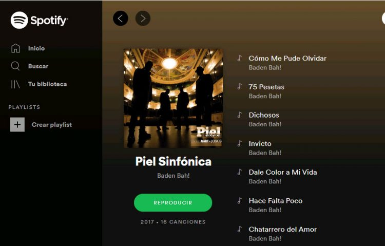 Piel Sinfónica (Baden Bah) en Spotify
